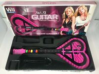 Wii Aly & Aj Heart Wireless Guitar Hero Controller Pink Rock Band No Dongle