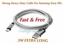 3M Samsung Galaxy S8 S9, S8 S9 Plus, Note 8 9 Fast Usb Data Lead Charging Cable