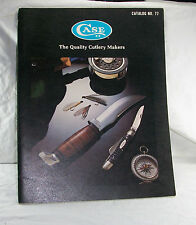 VTG Case XX Dealer Cutlery Catalog No 77 Excellent 1977 Pocket Knife Knives N