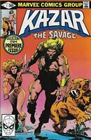 Ka-Zar Comic Issue 1 The Savage Bronze Age First Print 1981 Anderson Marvel