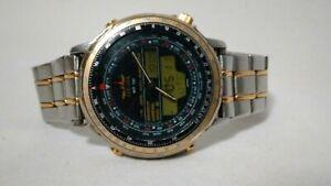 Men's Citizen C080-088611K Wingman. Ana-Digi. Aviator Pilot World Timer Watch