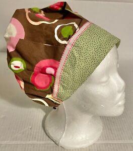 Fall Brown Circle Print Scrub Cap Bouffant Medical Surgery Hat