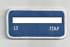 PATCH ITAF NAMETAG  NAMETAG PILOT LT NAME PROTECTED MALE