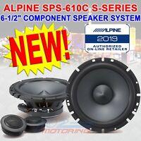 "ALPINE SPS-610C 6.5"" 2-WAY 240W TYPE-S SERIES COMPONENT CAR SPEAKERS SPS610C NEW"