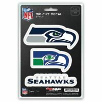 Seattle Seahawks Decals Die-Cut Auto Multi-use Stickers 3-Pack