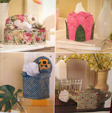 SEWING PATTERN Simplicity 2928 TISSUE BOX COVERS COUCH CHAIR TEAPOT TULIP