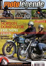 MOTO LEGENDE 215 NORTON 99 600 Dominator TRIUMPH T110 Tiger YAMAHA XT 550 TARBO