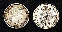 1 Real 1862 (Madrid). Espagne. Argent. Isabel II°.