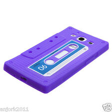 SAMSUNG GALAXY SIII 3 GS3 SILICONE SKIN CASE COVER RETRO CASSETTE PURPLE