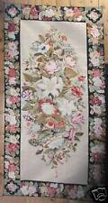 Tapestry - Needlepoint Embroidered Wall Tapestry - Large Floral