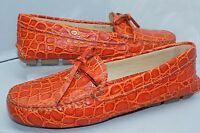 New Prada Women's Shoes Ballet Flats Size 37.5 Orange Loafers Calzature Donna