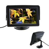 """New 4.3"""" DVD VCR TFT LCD Color Monitor For Car Reverse Rearview Backup Camera"""