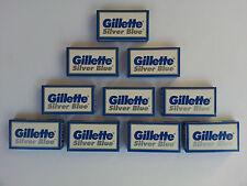 50 Gillette Silver Blue Double Edge Razor Blades Made in Russia
