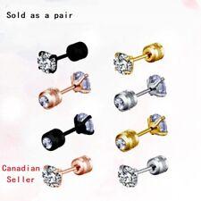 HOT Pair diamond Cartilage Earring Helix ear Piercing Stainless Steel ear studs