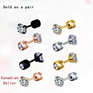 HOT Pair diamond Cartilage Earring Helix ear Piercing Stainless Steel ear studs