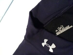 Under Armour Men's Compression Mock Shirt Size XL Navy Blue Warm Top Extra Large
