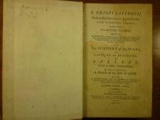 1799 SALLUST History WARS of CATILINE & JUGURTHA John Clarke GLOUCESTER imprint