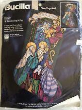 Bucilla Nativity Stocking Needlepoint Kit 60755 Christmas Stained Glass NEW 1997