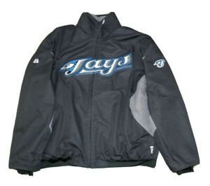 Majestic Toronto Blue Jays Therma Base Zip Up Jacket Size XL Pre Owned On Field