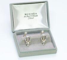 Vintage Hermes Sterling Silver Cufflinks