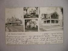 VINTAGE POSTCARD MULTIPLE VIEWS OF RESIDENCES IN FAIRFIELD IOWA 1910 UDB