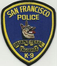 California San Francisco Police k-9 SFPD dhf Patch placa de policia líder de perros