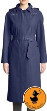 MSRP$368 NWT Save The Duck Trench Belted Coat Jacket Water Proof Rainy Pro XS/S