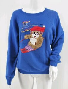 Pinwheels Vintage 80's Made in Japan Sweater Fuzzy Bear Size M