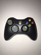 Official Microsoft Xbox 360 BLACK Wireless Controller Genuine  OEM TESTED