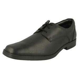 Boys Clarks Smart Formal Lace Up Leather Shoes Scala Edge Y
