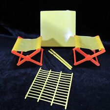 Vintage Barbie Outdoor Chairs Camping Furniture Lot Table Grate Replacements