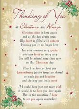 Thinking Of You At Christmas Graveside Memorial Verse Keepsake Card