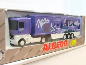 Albedo 700007 Renault Koffersattelzug Milka 20 Jahre Lila Kuh OVP (RR3102)
