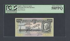 Angola 20 Escudaos 10-6-1962 P92S Specimen TDLR About Uncirculated