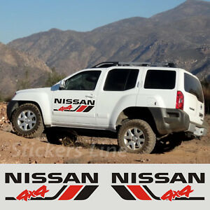 2 Adesivi portiera fuoristrada NISSAN 4X4 Terrano Navara Patrol X-Terra off road