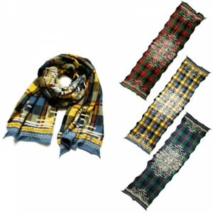 Kapital Milling Wool Indigenous Peoples Ainu Scarf Tartan Plaid From Japan EMS