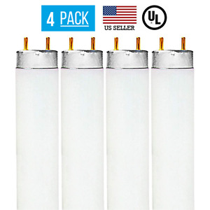 4 PACK F32T8 32W, 4 FOOT T8 FLUORESCENT REPLACEMENT TUBE, 6500K DAYLIGHT