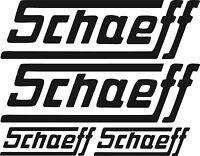Schaeff Aufkleber Bagger Baumaschinen Raupe Kettenfahrzeug Traktor Schlepper
