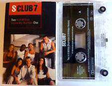 S CLUB 7 TWO IN A MILLION CASSETTE SINGLE 2 TRACK