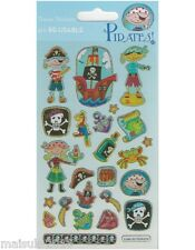 Paper Projects PIRATES Sparkle re-usable Foil Craft Stickers Age 3 +