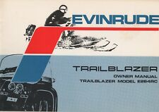 1973 EVINRUDE TRAILBLAZER E264RC SNOWMOBILE OWNERS MANUAL P/N 263418 (501)