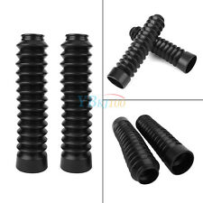2PCS/Set Universal 30mm Motorcycle Rubber Front Fork Cover Gaiters Gators Boots