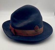 More details for vintage girl guide blue felt hat, c.1940s