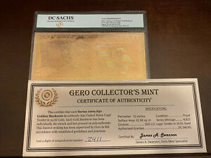 2006 $20 and 2009 $50 DC Sachs Bullion & Banknote Co. 99.9% Pure 24Kt Gold