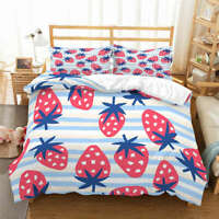 Gray White Dots 3D Quilt Duvet Doona Cover Set Single Double Queen King Print