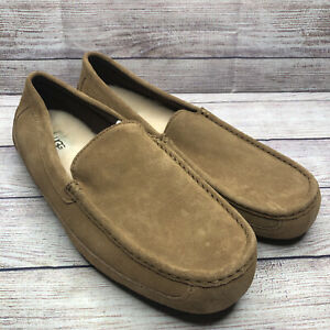 UGG Beige Alder UGGpure Lined Suede Moccasin Wool Slippers 1003419 Mens Size 13