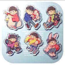 SIX SAME FACES Mr.Osomatsu San Color Acrylic Keychain Key Ring Animal Ver. Cute