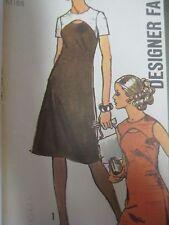Vtg 70s Simplicity 9253 CUT-OUT YOKE DRESS DESIGNER FASHION Sewing Pattern Women