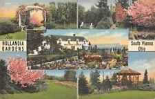 South Vienna Ohio 1940s Postcard Hollandia Gardens Nursery