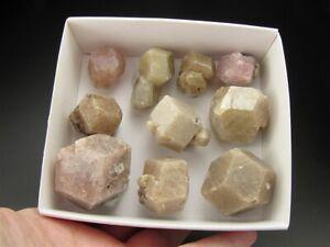 9 oz Box of Grossular Garnets, Coahuila, Mexico